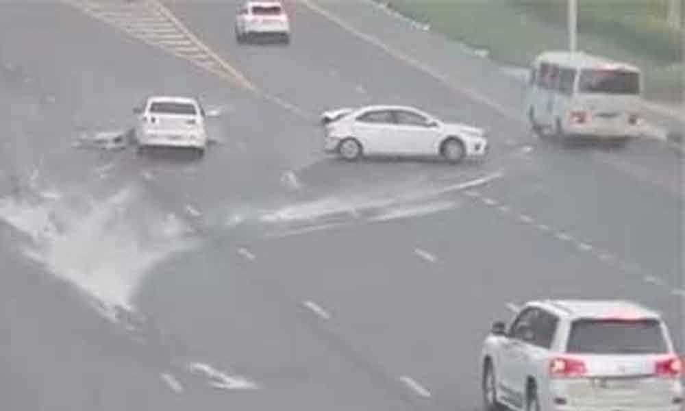 UAE police release horrific road accident video