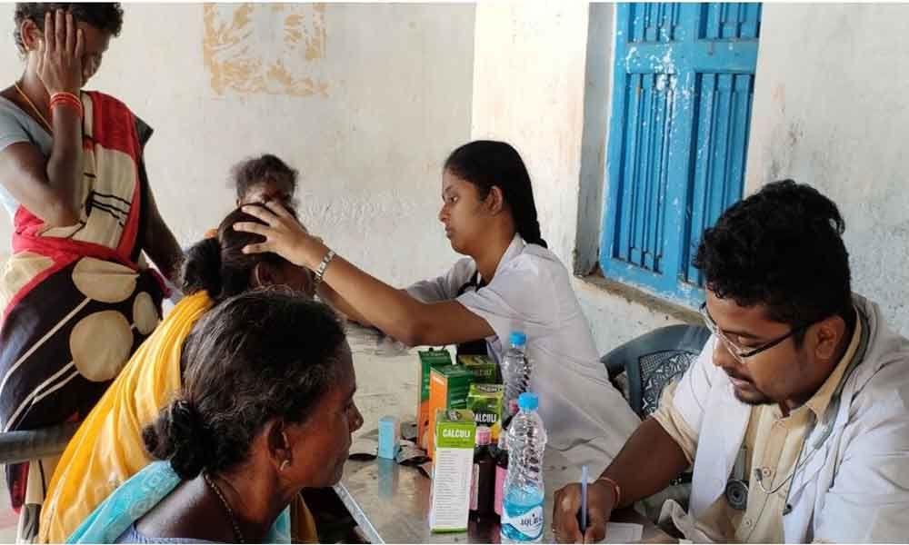 MVGR College of Engineering holds medical camp in Vizianagaram