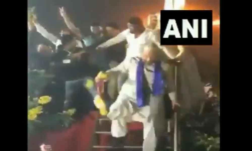 Watch: Asaduddin Owaisi performs a dance step in Aurangabad
