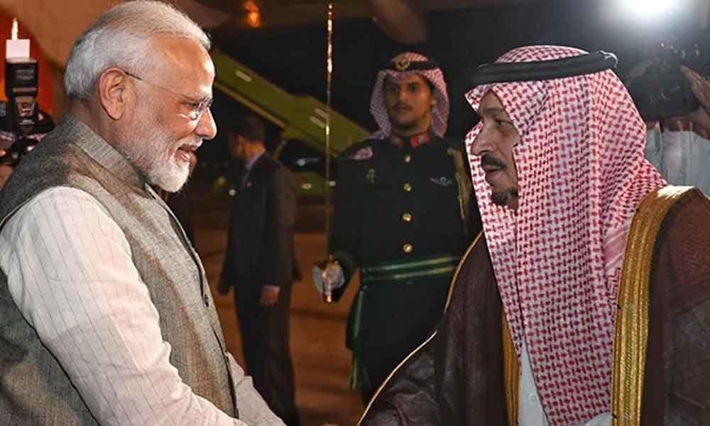 PM Modi To Meet the Crown Prince of Saudi Arabia In Riyadh Today