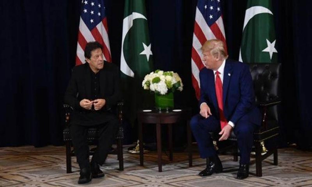 Pak PM discusses Afghan peace process and Kashmir with US Prez Trump