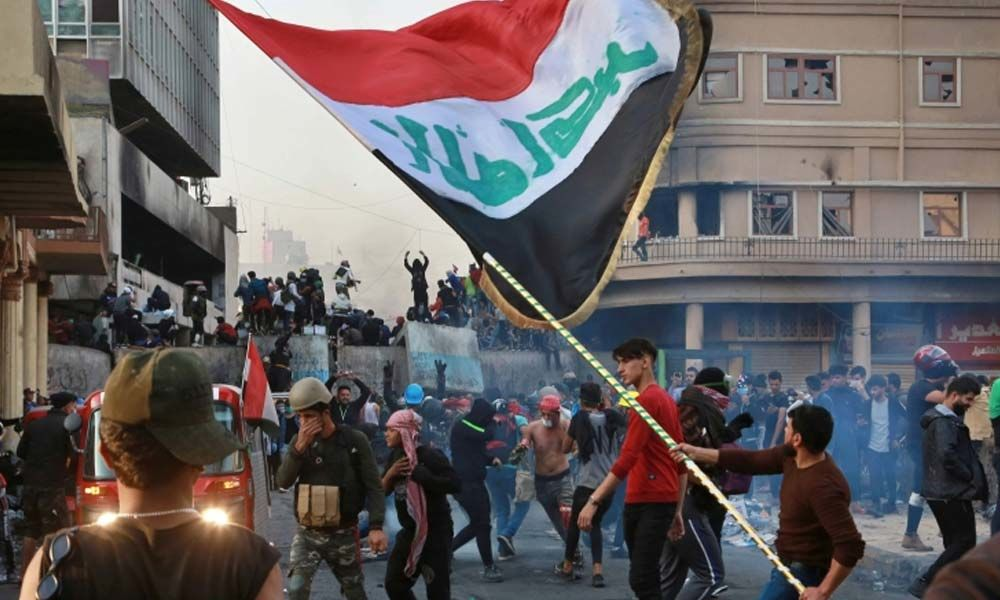 At least 45 protesters shot dead, 152 others wounded in escalating Iraqi unrest