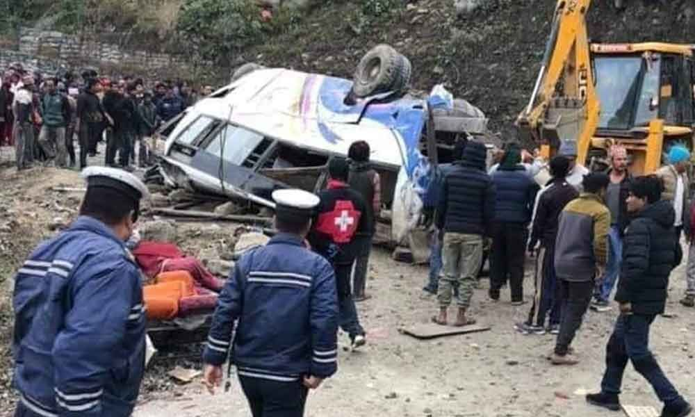 14 pilgrims dead, 18 injured after bus drives off highway, crashes in Nepal