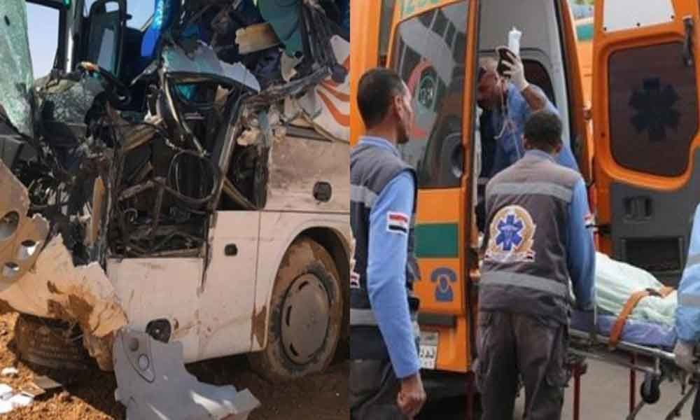 Indian killed in bus accident in Egypt, 16 tourists were on board