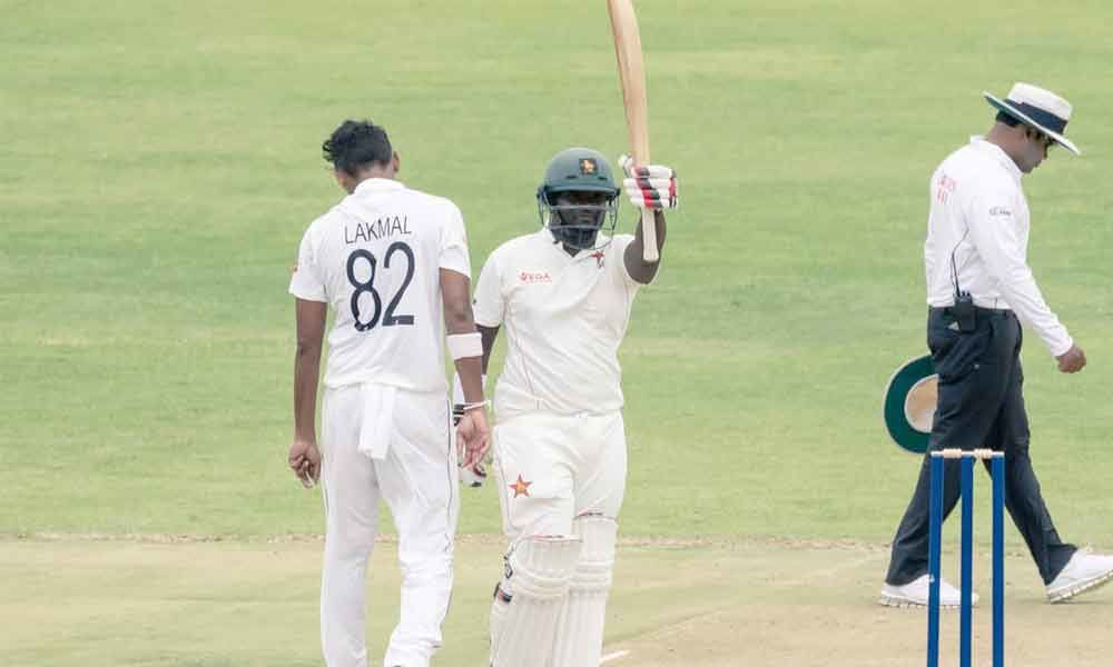 Masvaure fifty helps Zimbabwe to solid start against Lanka