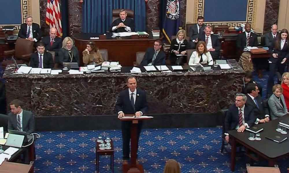 Democrats conclude opening arguments in Senate impeachment trial
