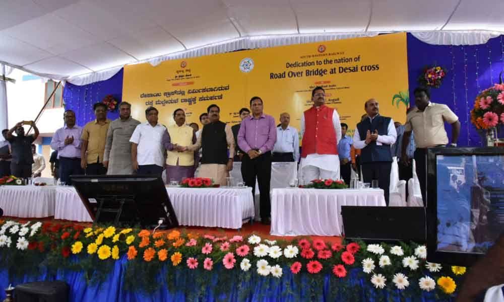 Hubballi: Union Minister Pralhad Joshi dedicates Desai Crossroad over bridge to nation
