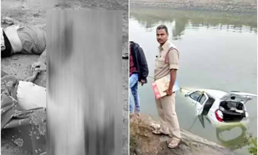Two killed, three injured as car plunges into Vamsadhara canal in Srikakulam district