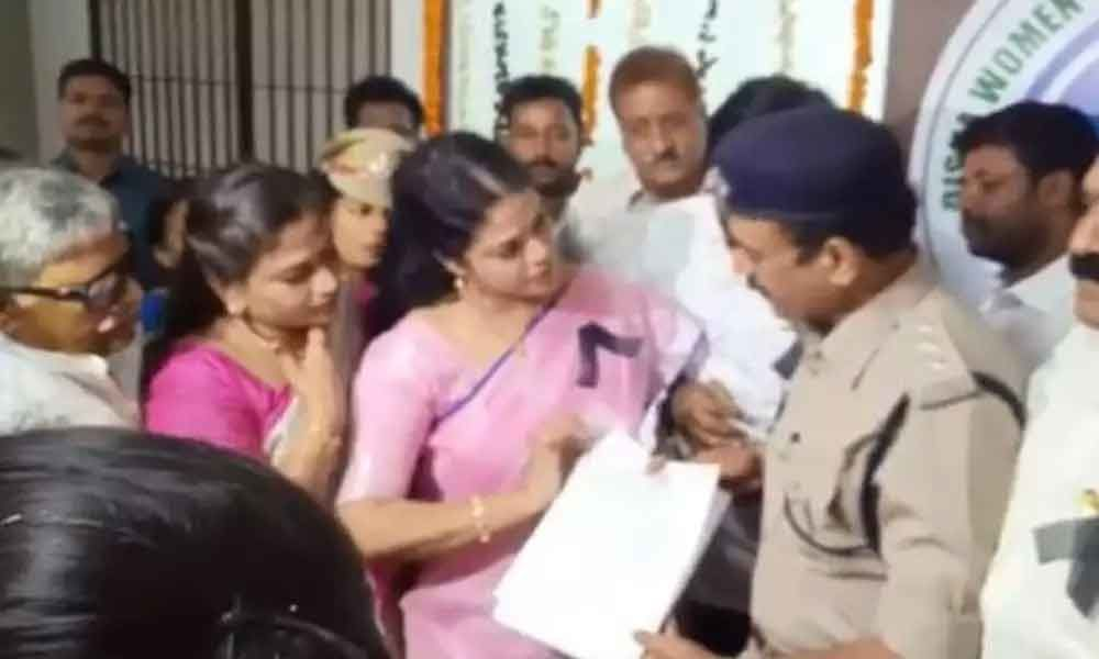 TDP MLA Adireddy Bhavani files complaint in Disha Police station against online trolling
