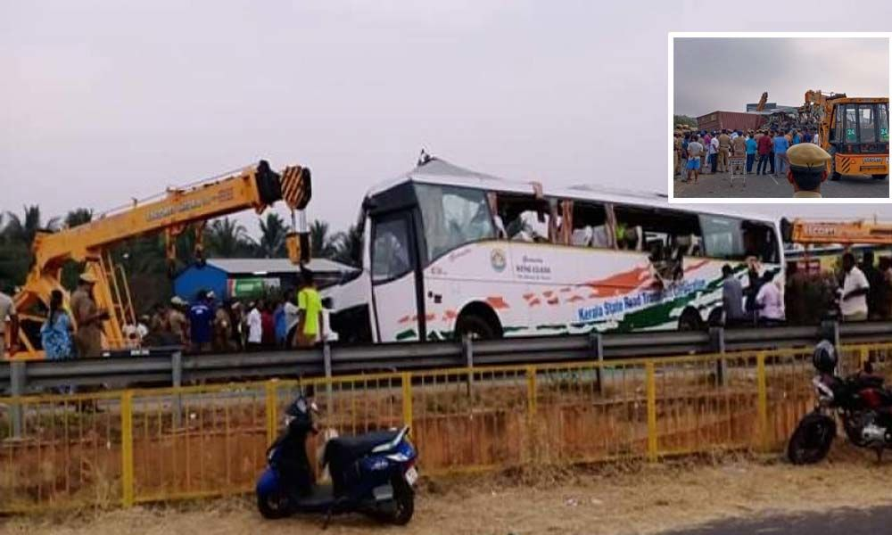 19 died, 30 injured as lorry hits bus in TN