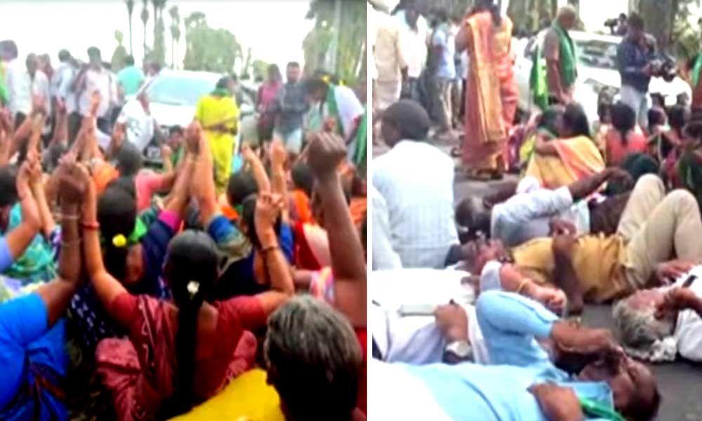 Cases booked against 426 people in Amaravati for blocking Tahasildar