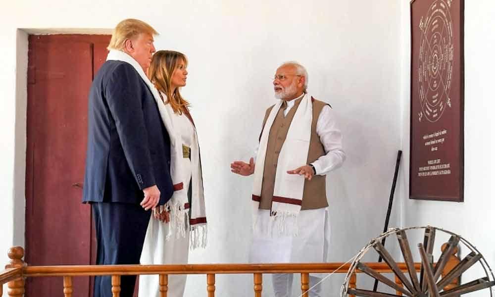 Twitterati surprised over Trump not mentioning Gandhi in Sabarmati Ashram