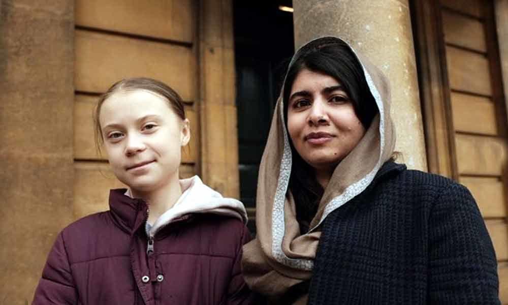 Greta Thunberg meets her