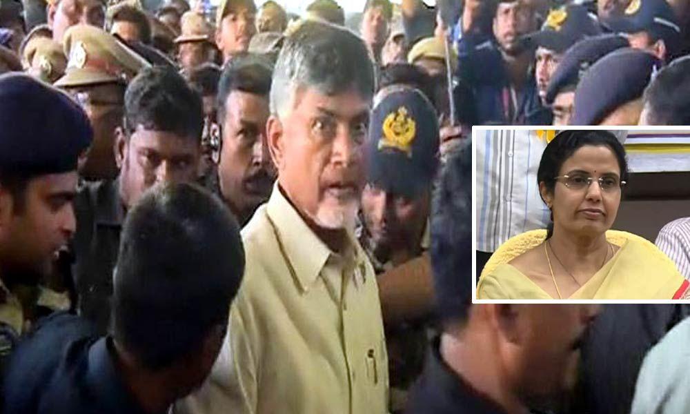 Nara Bhuvaneshwari rushes to Visakhapatnam airport after Chandrababu Naidu
