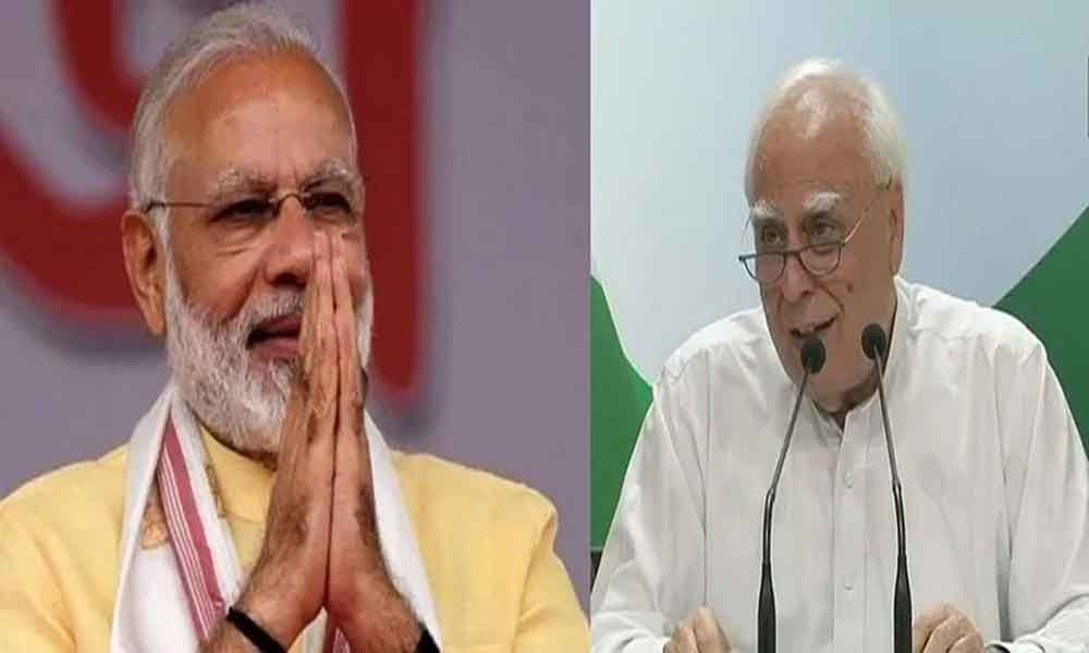 Kapil Sibal takes a dig at PM Modi, thanks him for