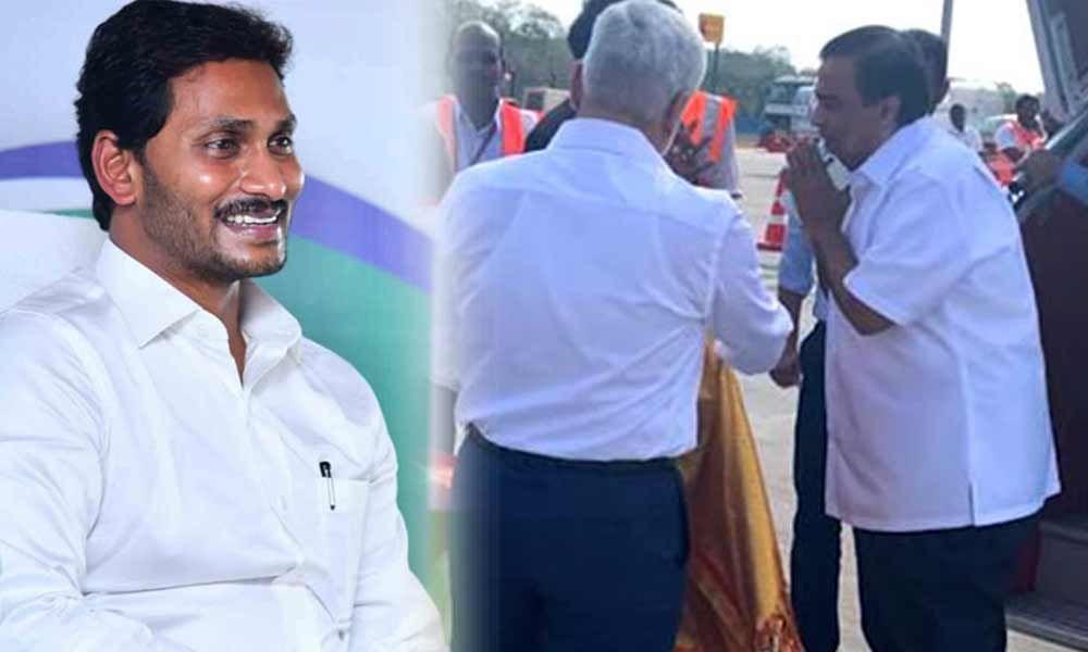 Mukesh Ambani meets CM YS Jagan in Amaravati