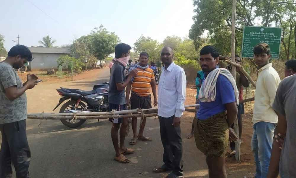 Vikarabad: Villages block entry and exit points
