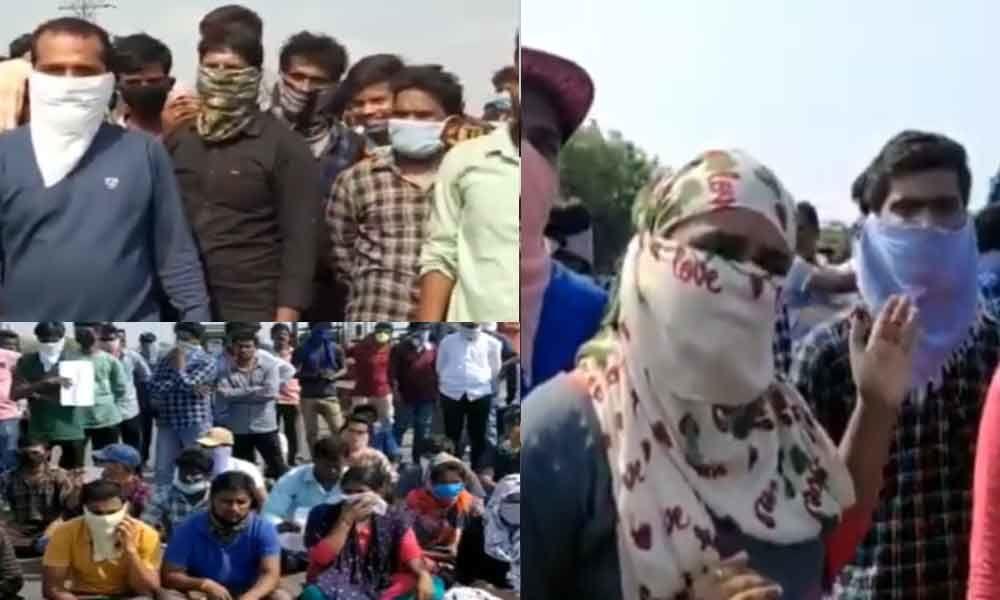 Telangana: 200 students stranded at Pullur toll gate