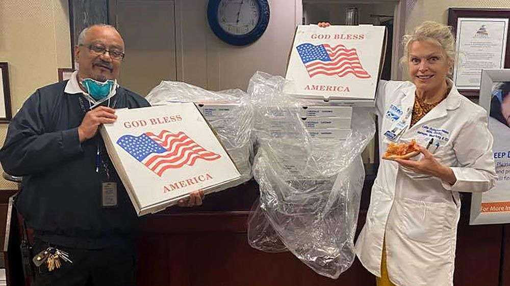 Bill and Hillary Clinton sent more than 400 pizzas to New York hospitals fighting coronavirus