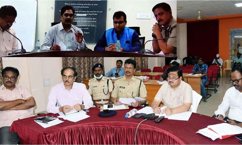 Eluru: Marking complete for social distancing, says Jt Collector K Venkataramana Reddy