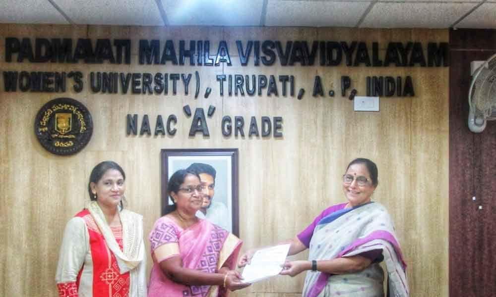 Tirupati: Sandhya Rani becomes new Rector of Sri Padmavati Mahila Visvavidyalayam