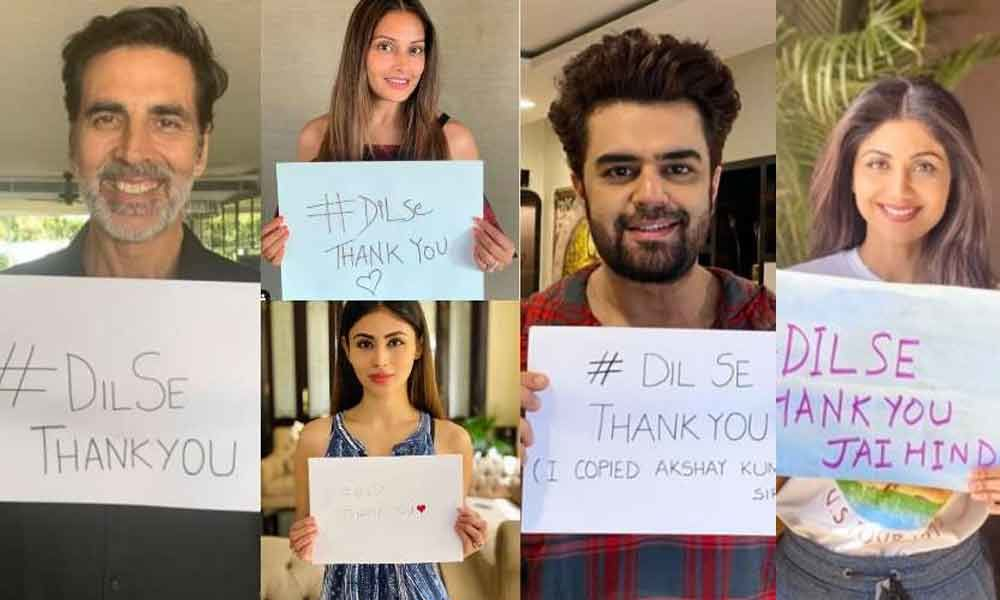 Dil Se Thank You: Celebrities Take This Note And Show Off Their Gratitude