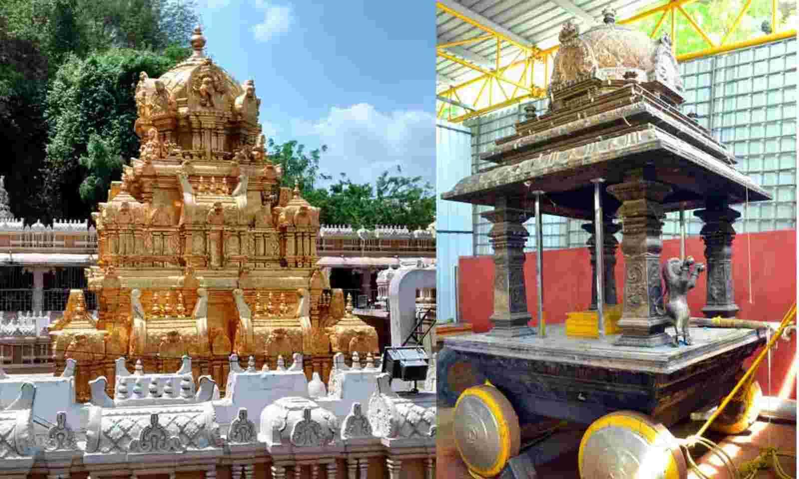 Durga Temple EO Suresh Babu Calls Stolen Lions Old And Blackened