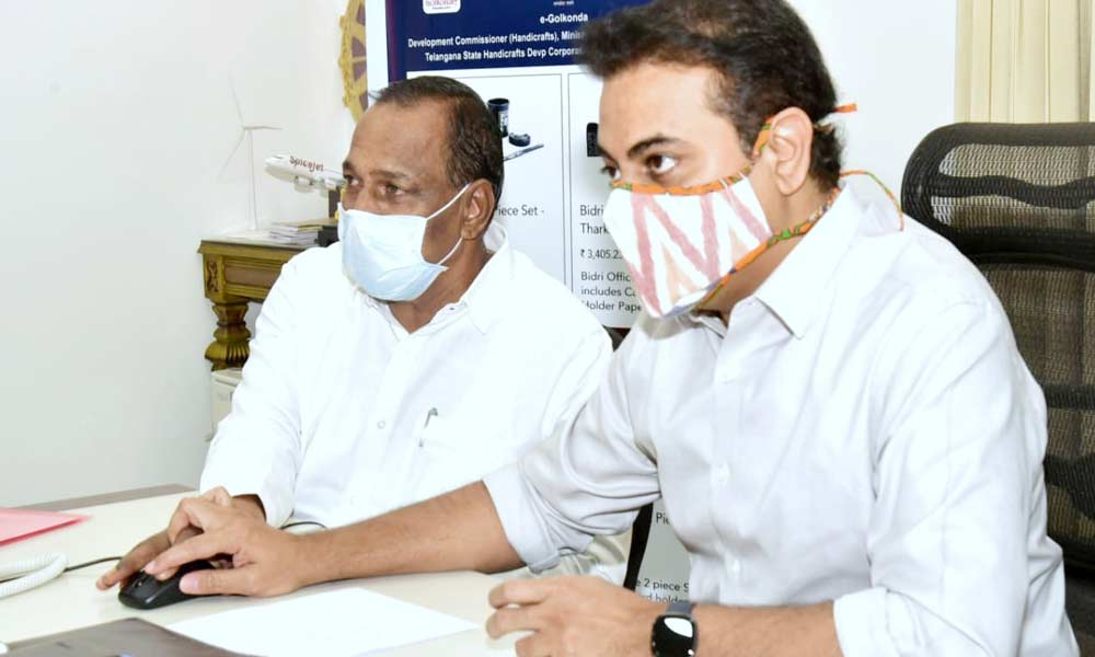 Minister KTR launches eGolkonda portal for handloom products