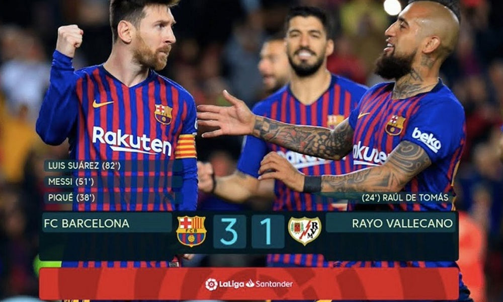 Messi, Suarez inspires Barca to 3-1 comeback victory over Real Vallecano