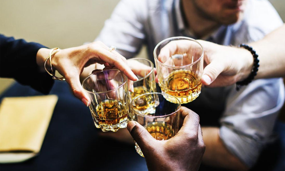 Moderate drinking associated with high blood pressure