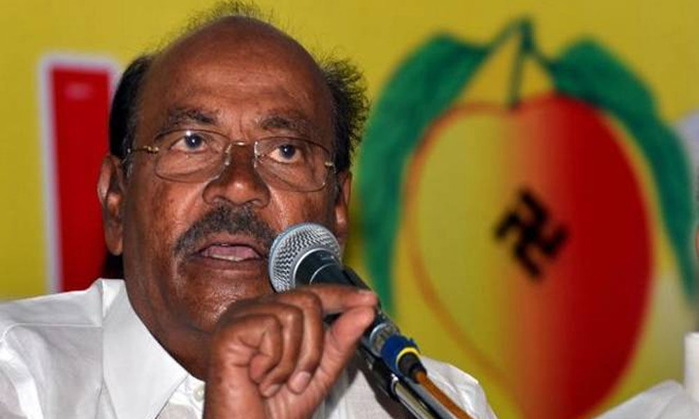 Strive for AIADMK-led alliances win in all seats in TN: PMK chief to workers