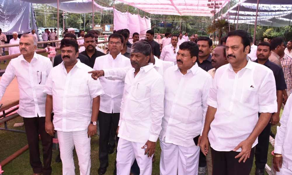 TRS election meet measures inspected