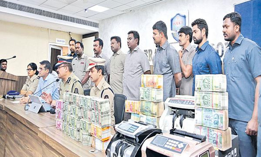 Hyderabad cops seize Rs 90 lakh unaccounted cash , 4 held