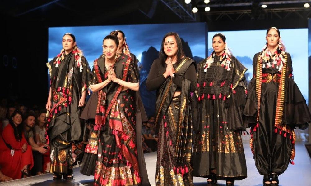Rocking the look in Mekhla Chador