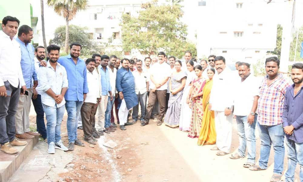 Mynampally inspects CC road works