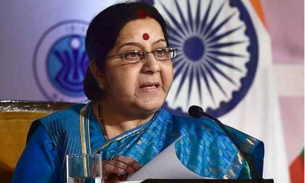 Sushma Swaraj speaks with French counterpart after Masood Azhar