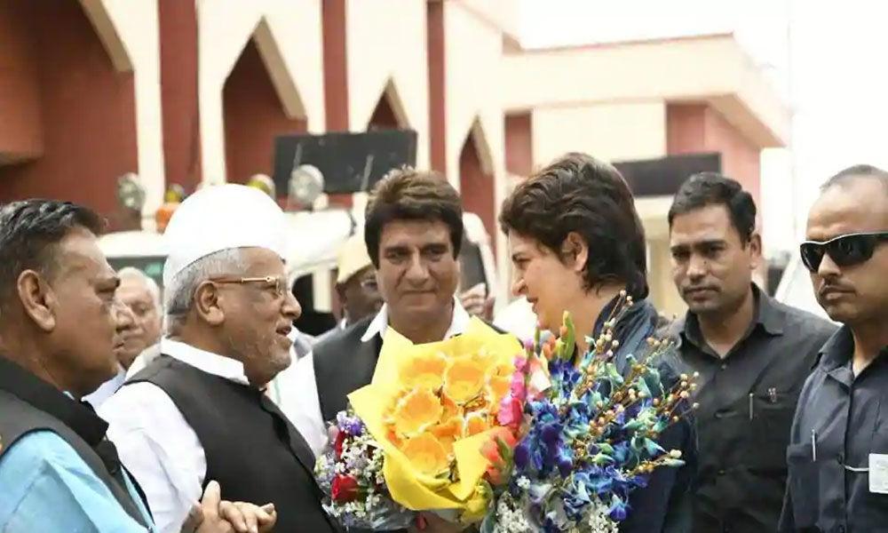 Priyanka Gandhi in Lucknow to meet party workers