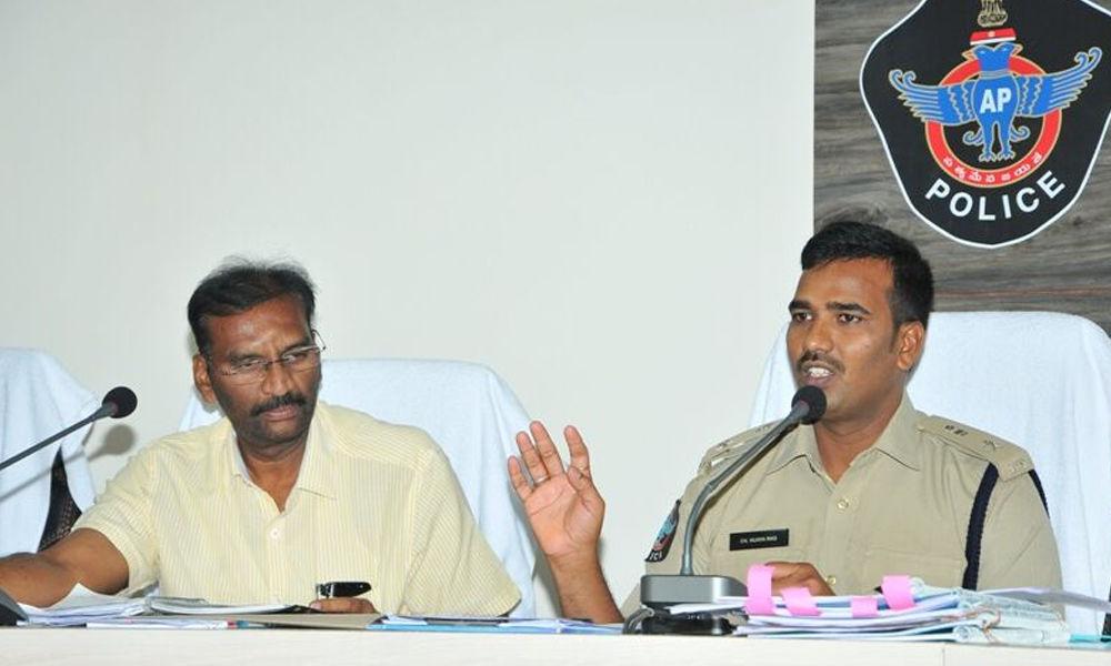 Contain criminals ahead of polls, SP tells cops in Guntur