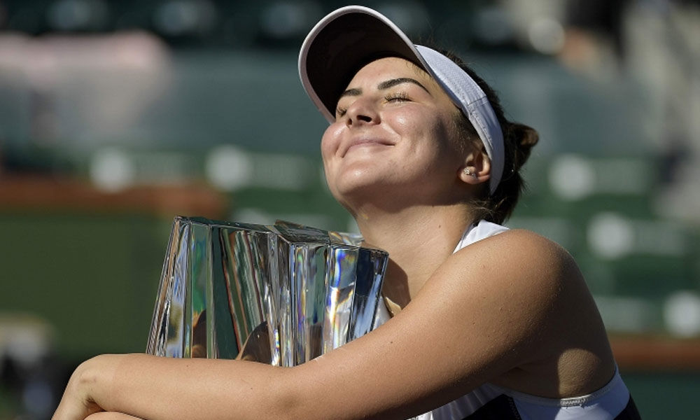 Canadian teen Andreescu topples Kerber to win Indian Wells WTA title