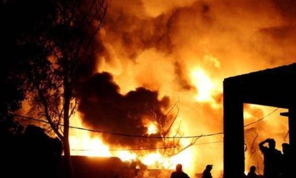 Massive fire mishap in paint factory