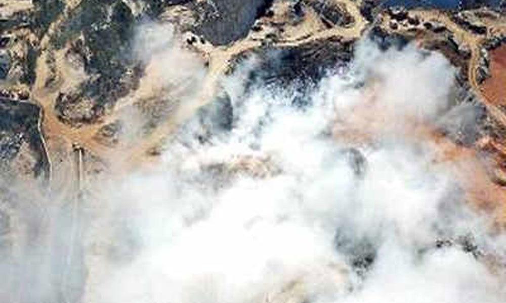 Illegal quarry-blasting triggers fire in Bellahalli garbage dump