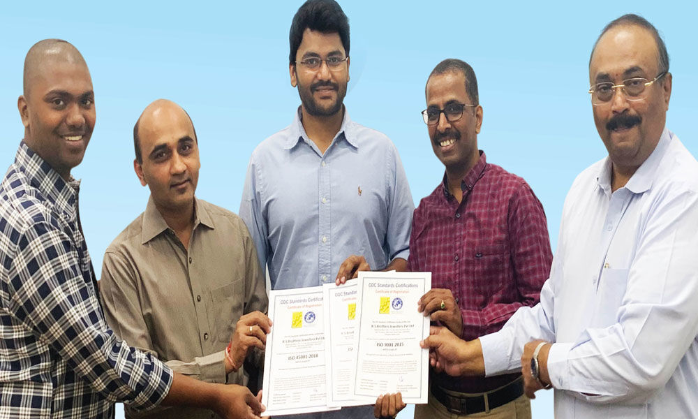 RS Brothers bags ISO certifications