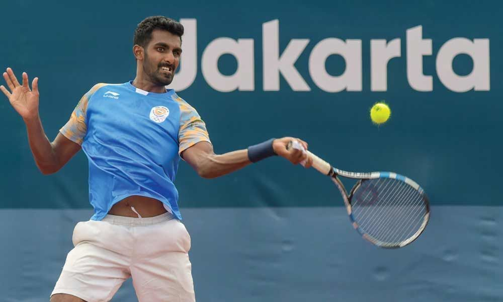 Prajnesh intosecond straight Masters main draw appearance