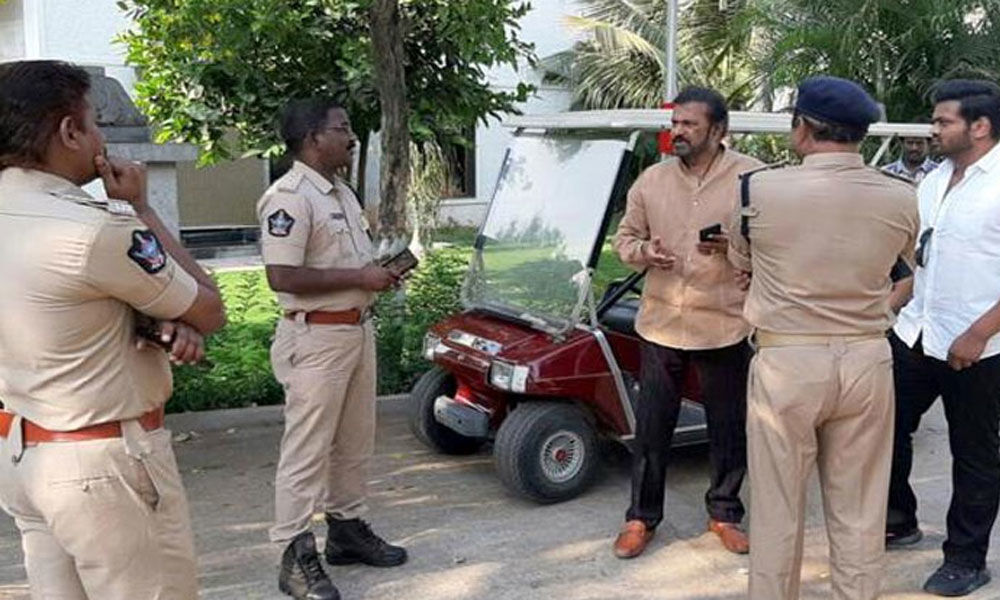 Actor Mohan Babu house arrested