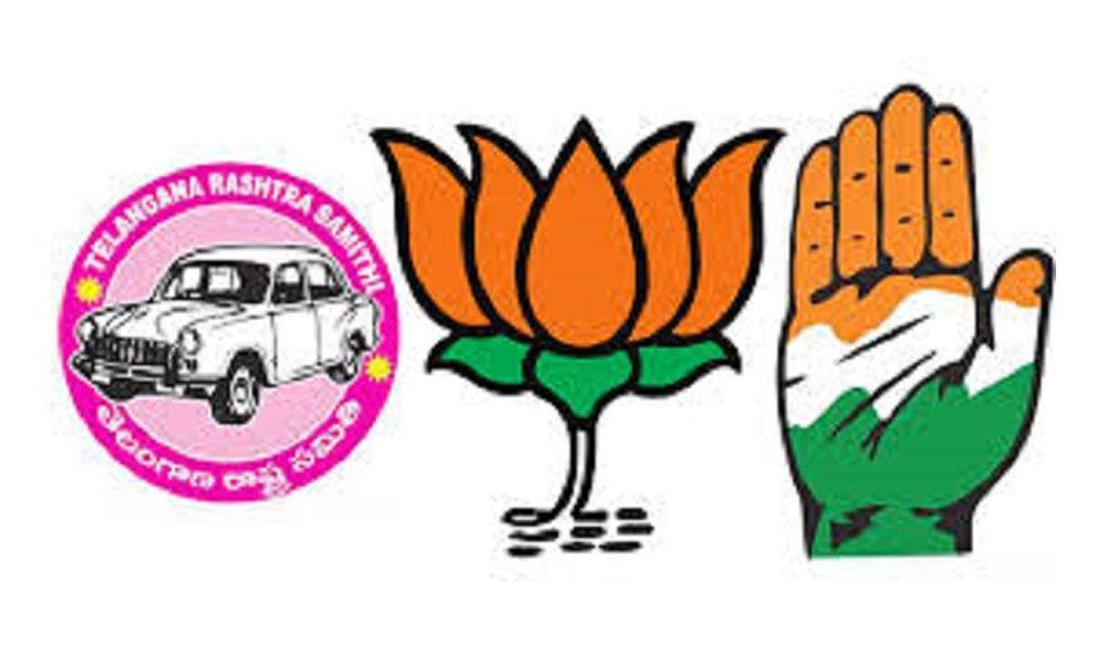 TRS, BJP drop key contenders, Cong fields top leaders in Telangana