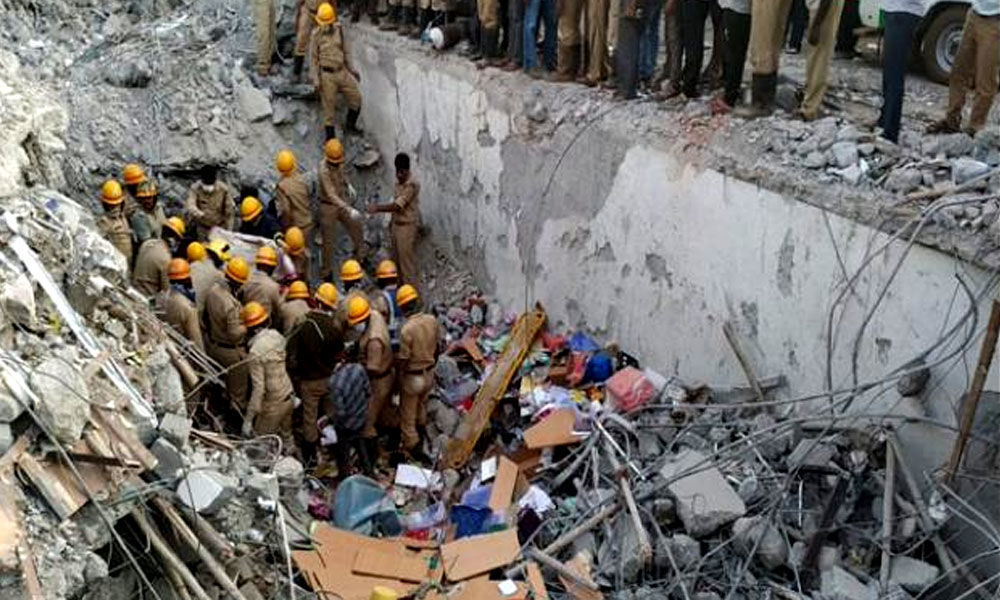 Dharwad building collapse: Seven officers suspended for negligence