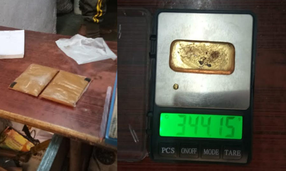 TS cops helped Customs official to seize 340 gm of gold at RGIA