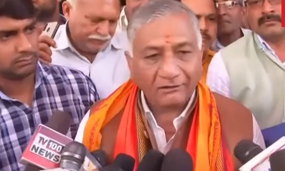 General VK Singh files his nomination paper from Ghaziabad Lok Sabha seat