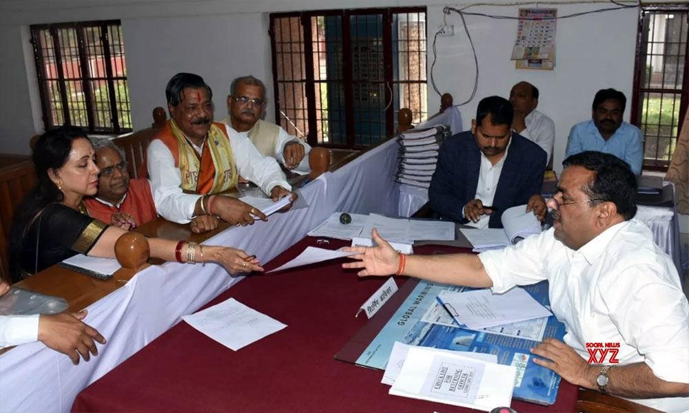 BJP MP Hema Malini files nomination from Mathura
