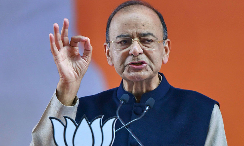 Jaitley calls Congresss minimum income promise a bluff